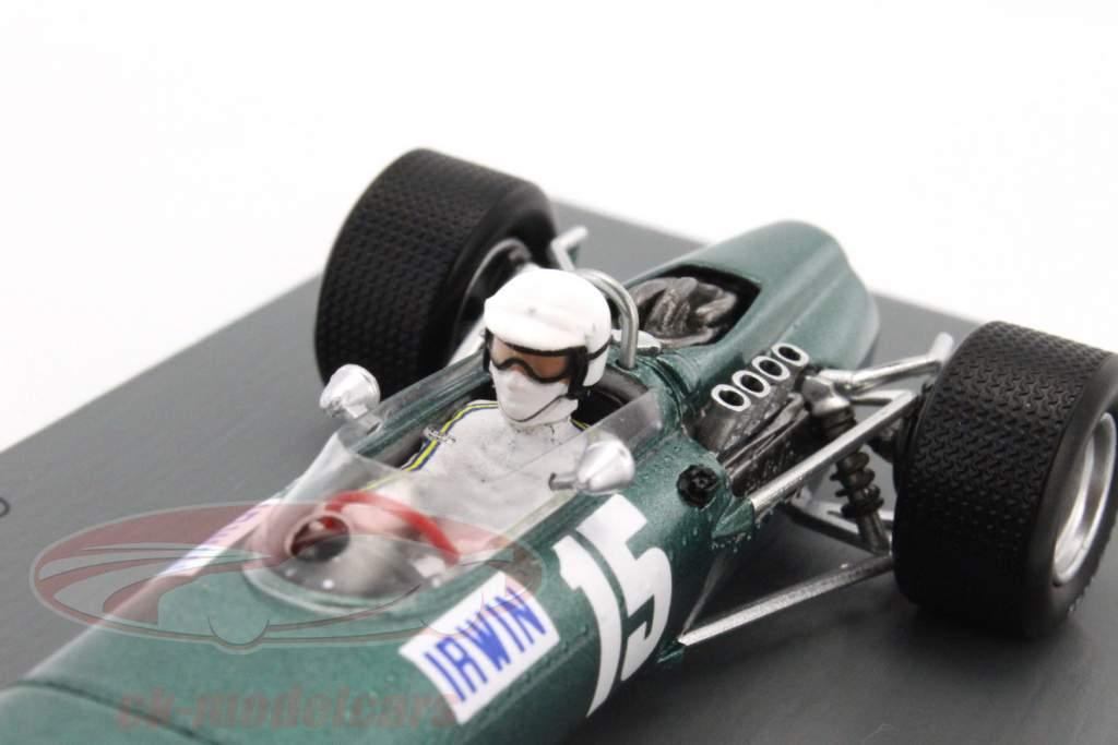 Chris Irwin BRM P61/2 #15 Storbritannien GP formel 1 1967 1:43 Spark