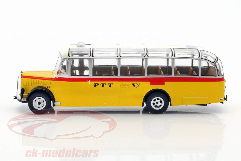 Saurer L4C Bus year 1959 yellow / red / silver 1:43 Ixo