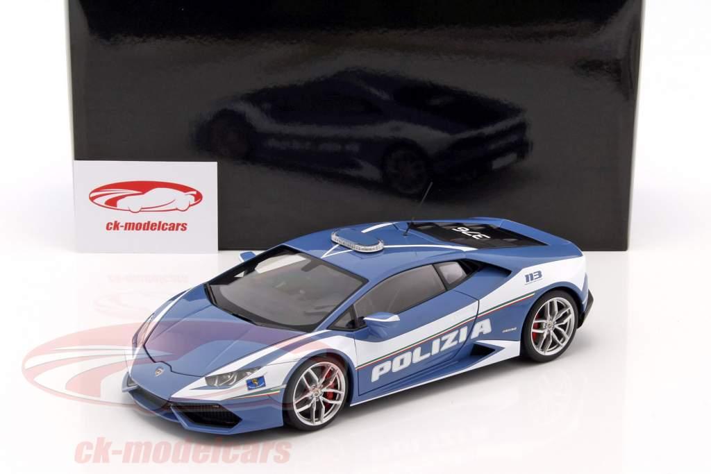 Autoart 1 18 Lamborghini Huracan Lp610 4 Police Year 2014 Blue