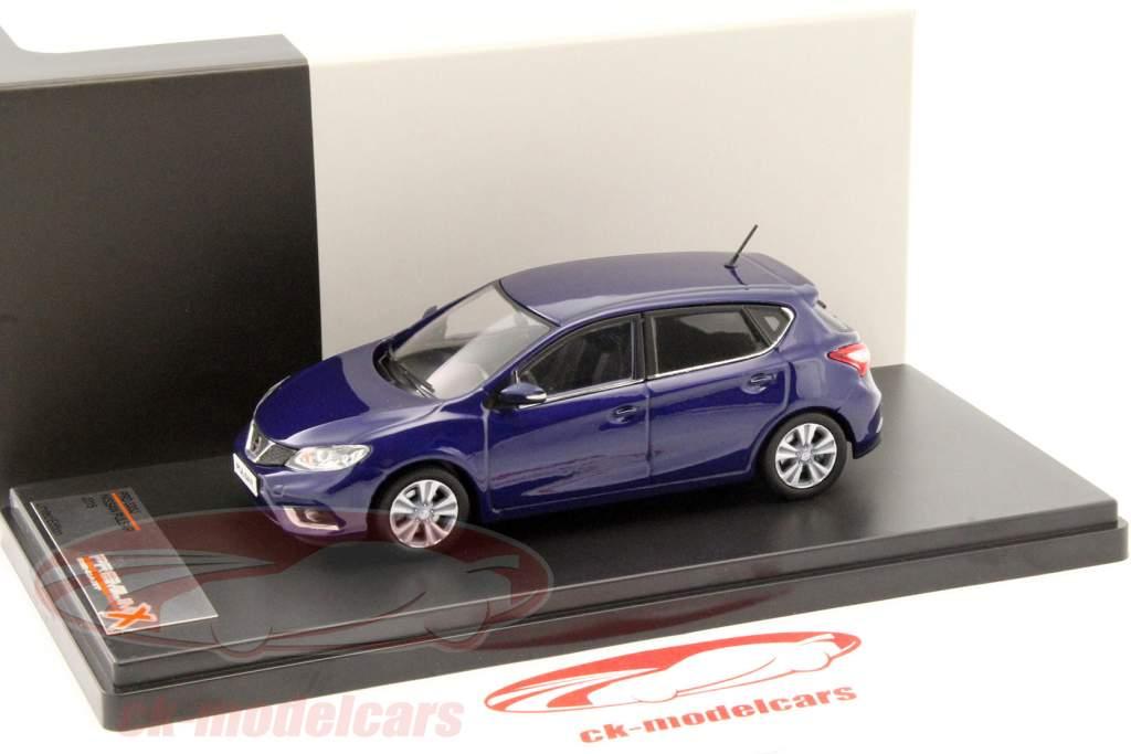 Nissan Pulsar Opførselsår 2015 blå 1:43 PremiumX