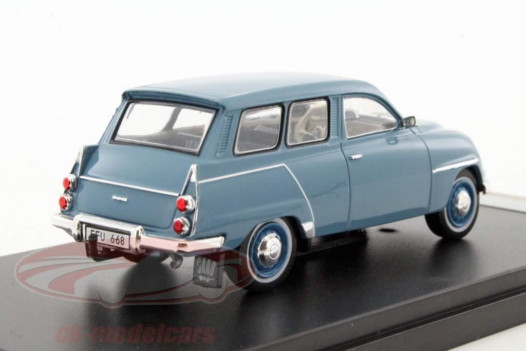Saab 95 Opførselsår 1961 blå 1:43 PremiumX
