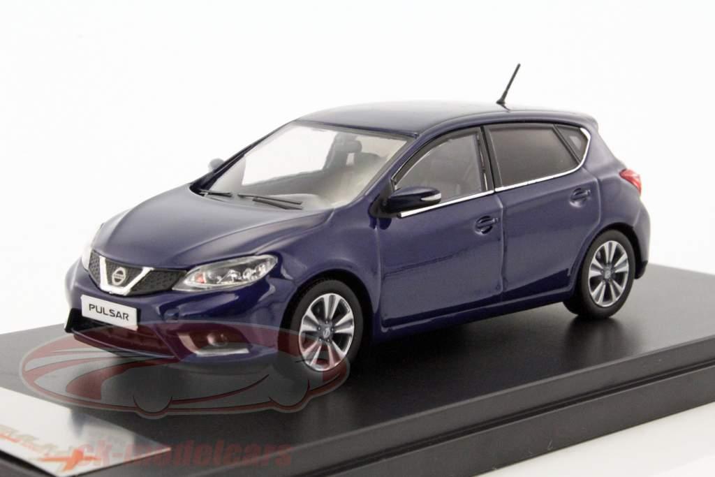 Nissan Pulsar ano de construção 2015 azul 1:43 PremiumX