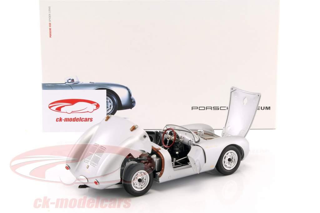 Porsche 550 Spyder anno di costruzione 1956 argento 1:18 Schuco