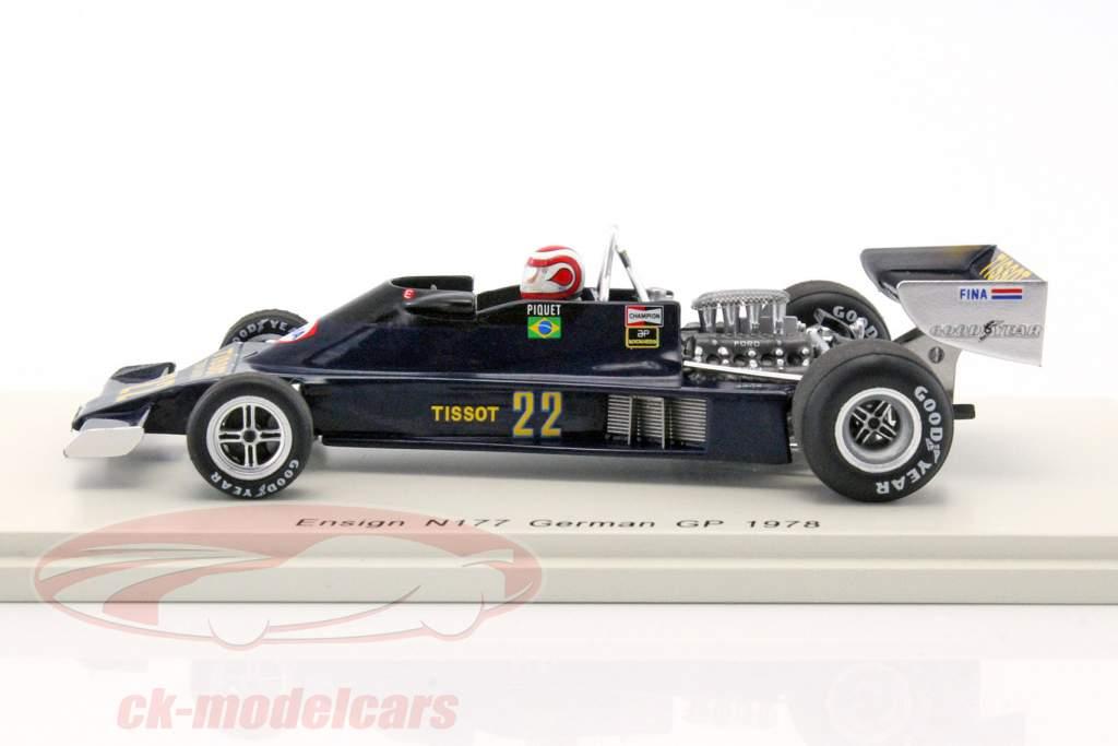 Nelson Piquet Ensign N177 #22 Duitsland GP formule 1 1978 1:43 Spark