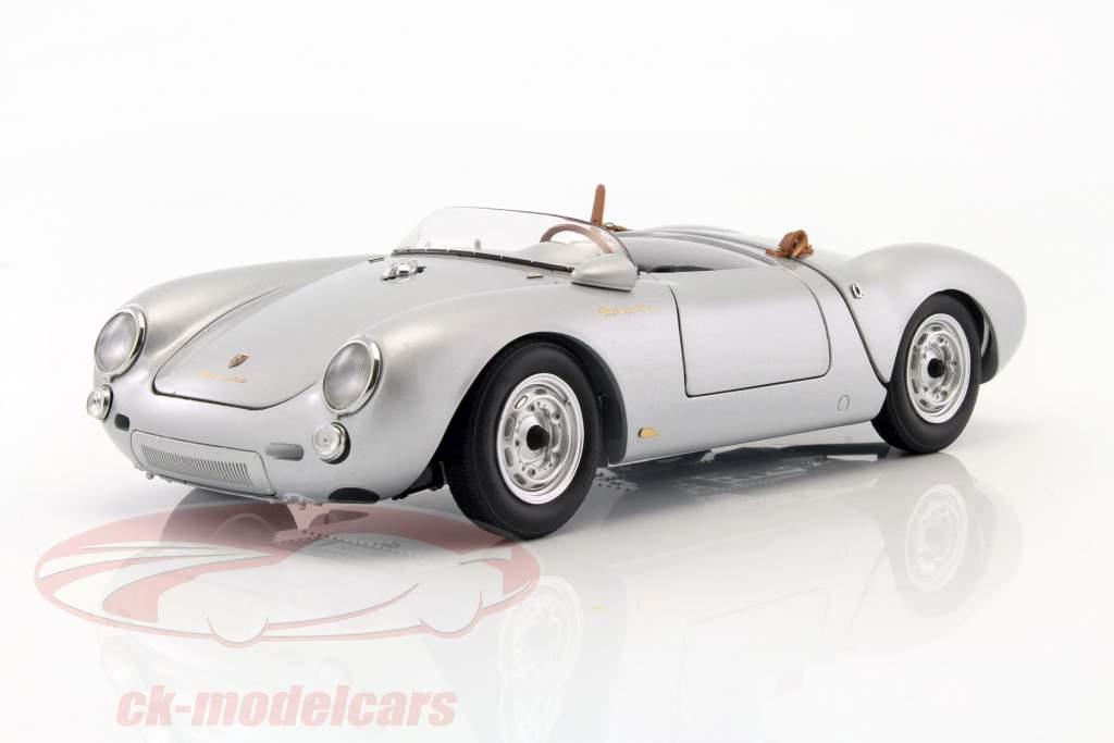 Porsche 550 Spyder Bouwjaar 1956 zilver 1:18 Schuco