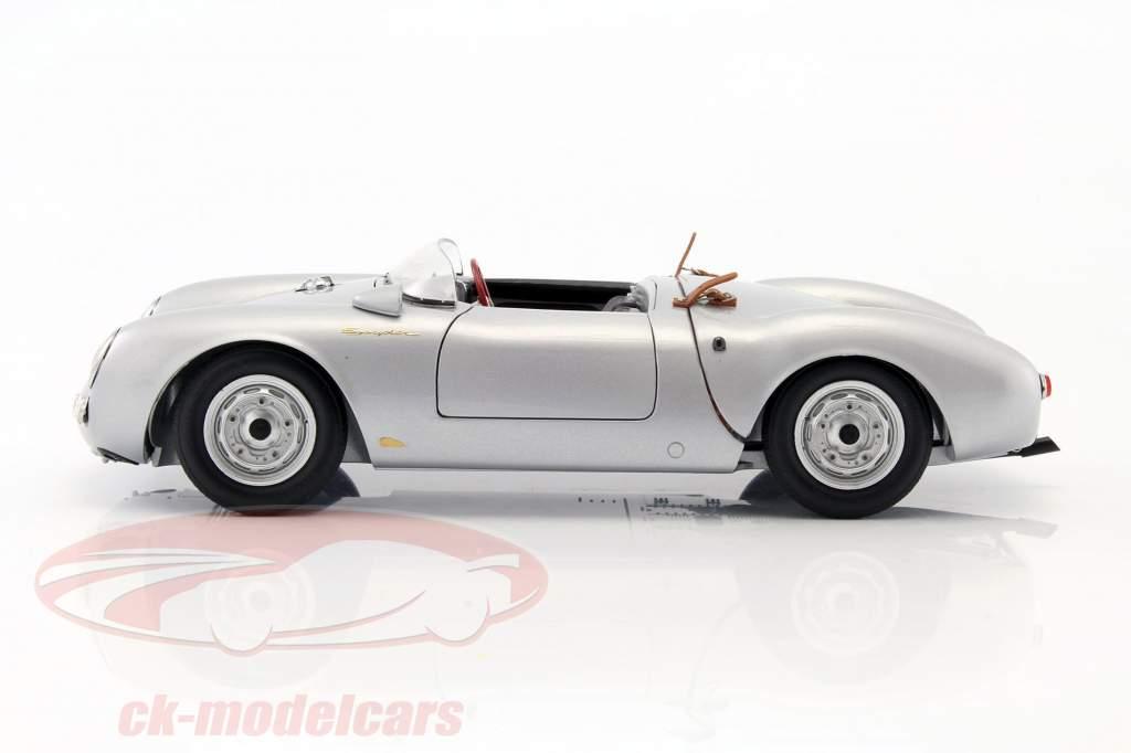 Porsche 550 Spyder ano de construção 1956 prata 1:18 Schuco