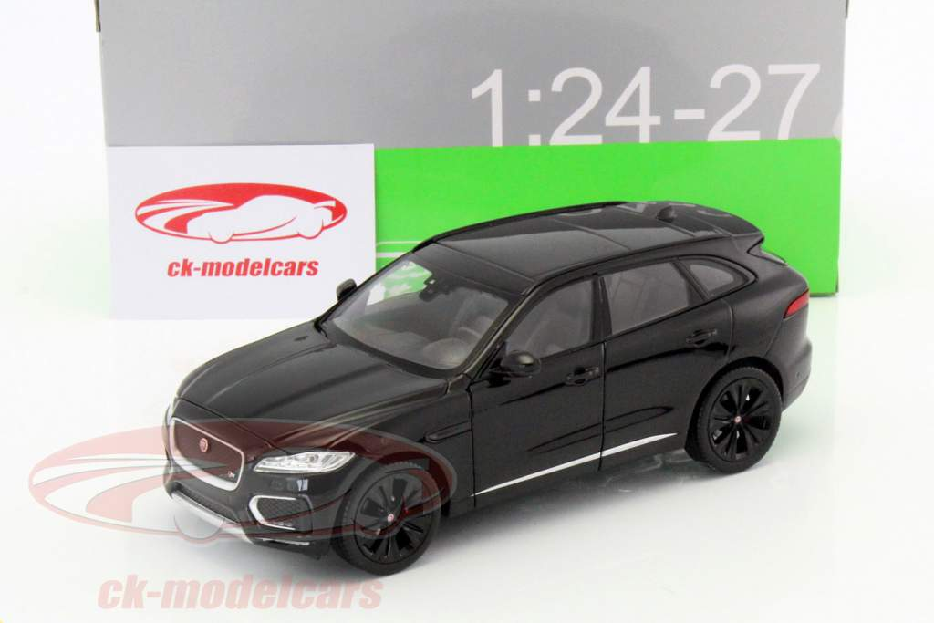 Jaguar F-Pace year 2016 black 1:24 Welly