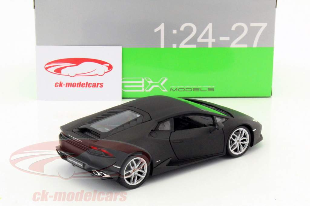 Lamborghini Huracan LP 610-4 år 2015 måtte sort 1:24 Welly
