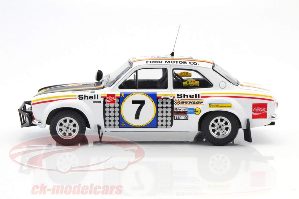 Ford Escort MK 1 RS 1600 #7 vincitore Safari Rallye 1972 Mikkola, Palm 1:18 Triple9