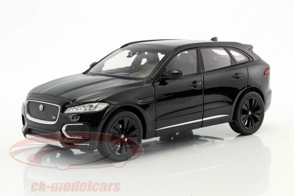 Jaguar F-Pace Opførselsår 2016 sort 1:24 Welly