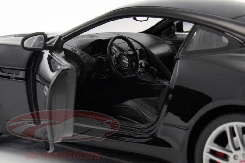 Jaguar F-Type coupe año de construcción 2015 negro 1:24 Welly