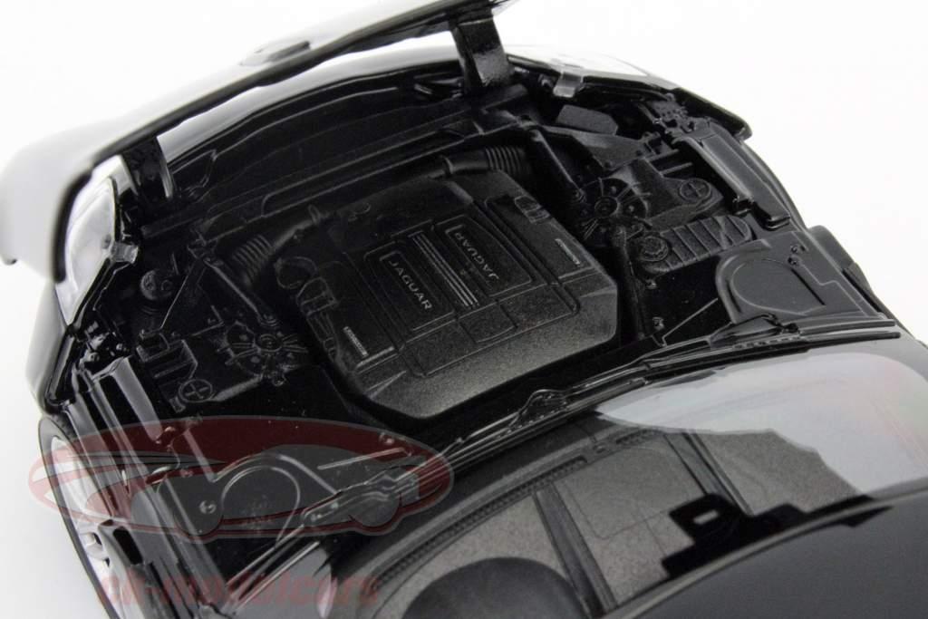 Jaguar F-Type coupé année de construction 2015 noir 1:24 Welly