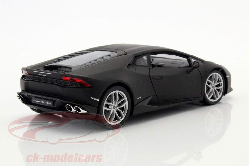 Lamborghini Huracan LP 610-4 Baujahr 2015 matt schwarz 1:24 Welly
