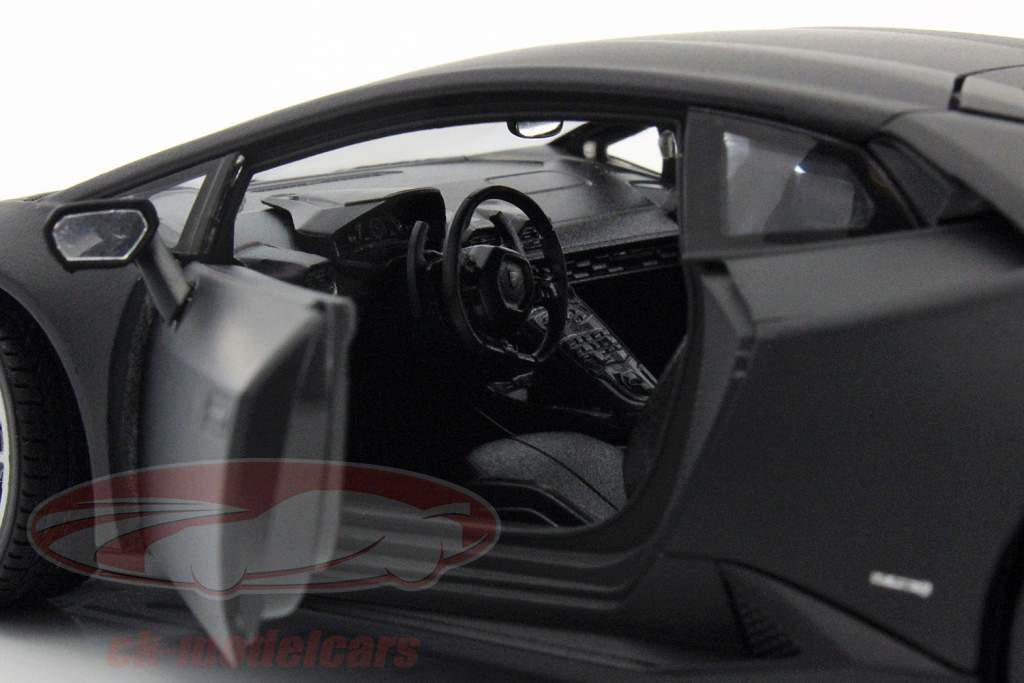 Lamborghini Huracan LP 610-4 ano 2015 esteira Preto 1:24 Welly