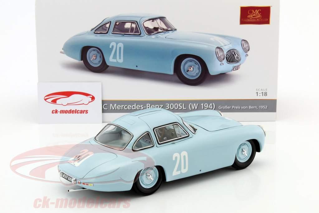 Mercedes-Benz 300 SL (W194) #20 2nd GP Bern 1952 Lang 1:18 CMC