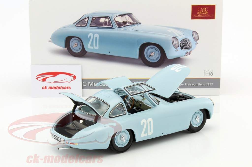 Mercedes-Benz 300 SL (W194) #20 segundo GP Bern 1952 Lang 1:18 CMC