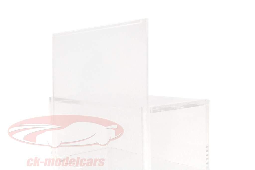 modèle de voiture tour vitrine avec plaque de base pour 10 modèles 1:43 SAFE