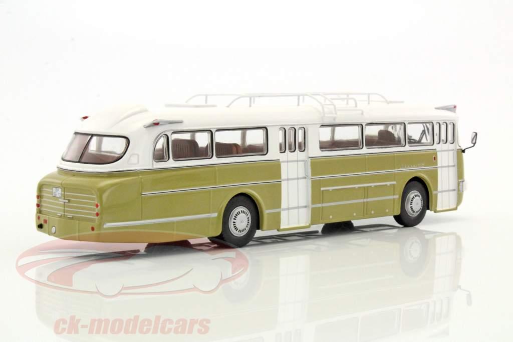 Ikarus 66 bus Bouwjaar 1972 wit / helder olijf 1:43 Ixo