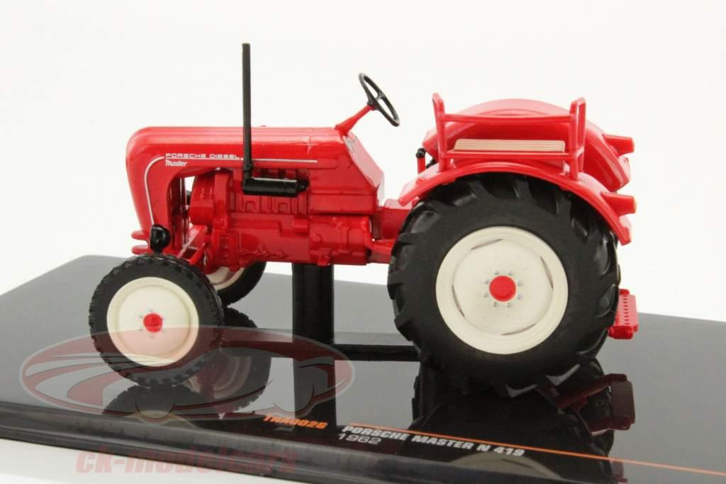 Porsche Master N 419 año de construcción 1962 rojo 1:43 Ixo
