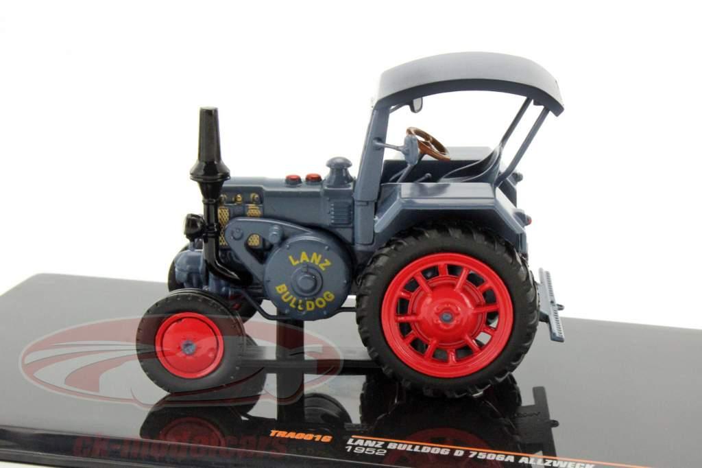 Lanz Bulldog D 7506A Alle Formål Opførselsår 1952 blå 1:43 Ixo