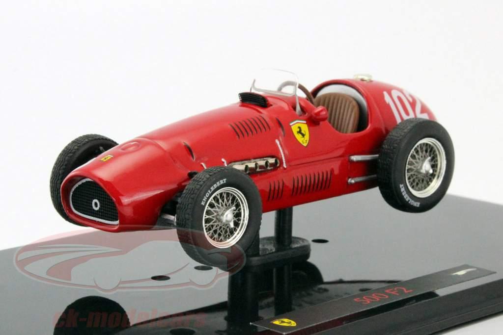 A. Ascari Ferrari 500 F2 #102 Formula 1 Verdensmester 1952 1:43 HotWheels Elite