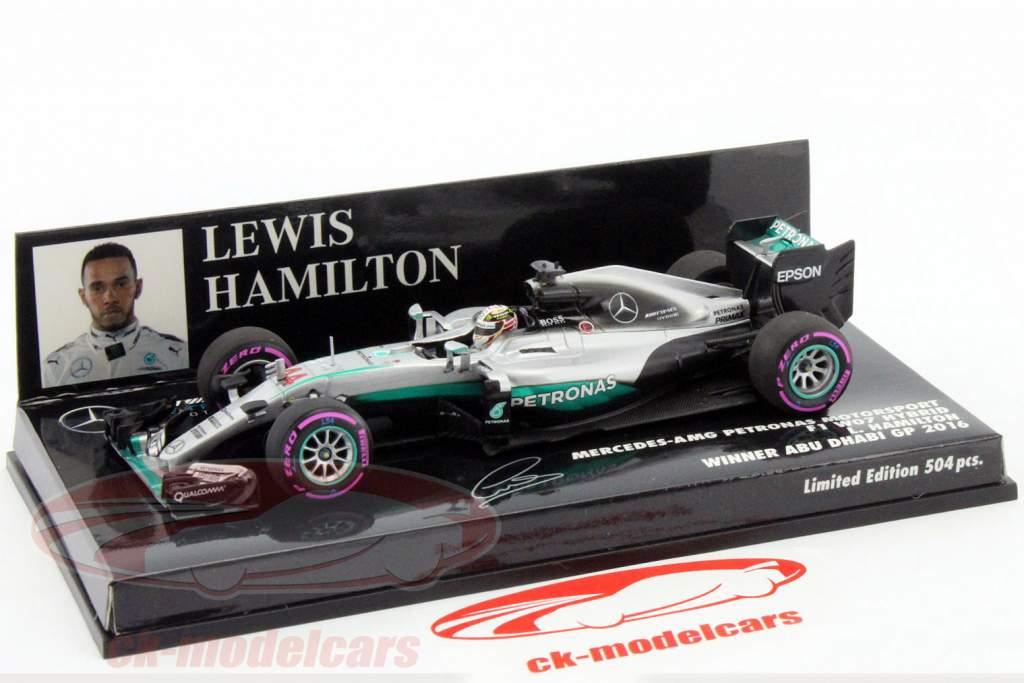 L. Hamilton Mercedes F1 W07 #44 Winner Abu Dhabi formula 1 2016 1:43 Minichamps