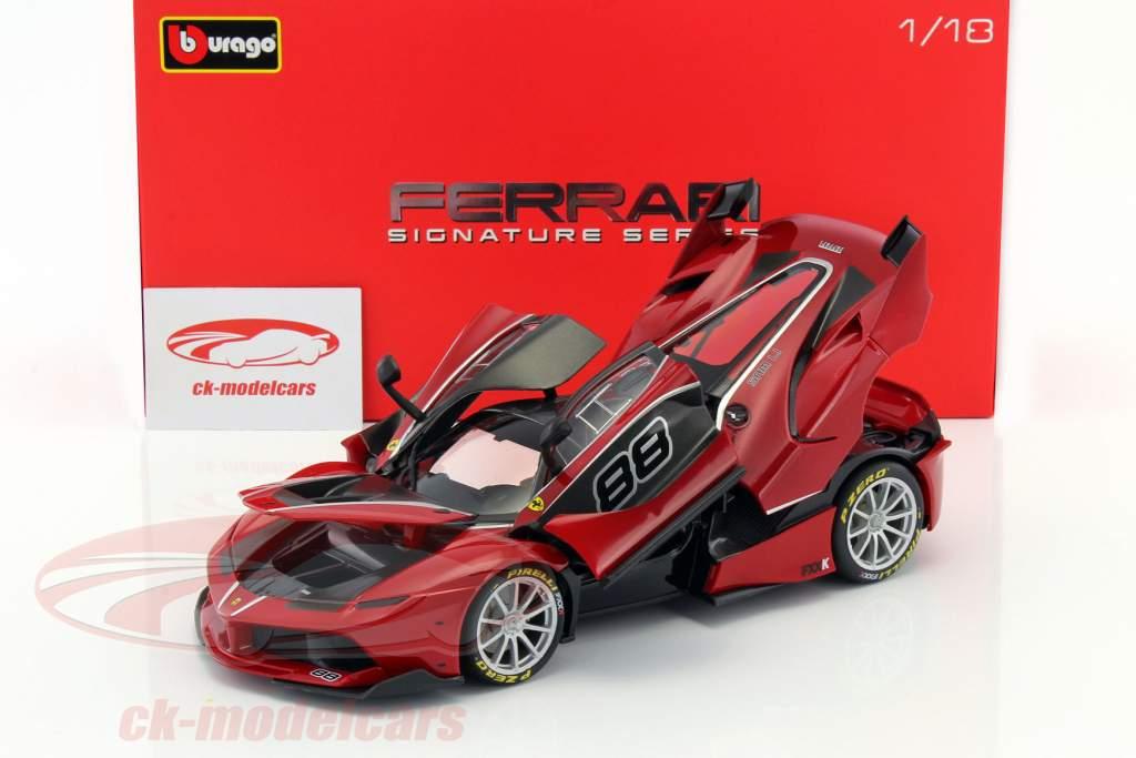 Ferrari FXX-K #88 rood / zwart 1:18 Bburago Signature
