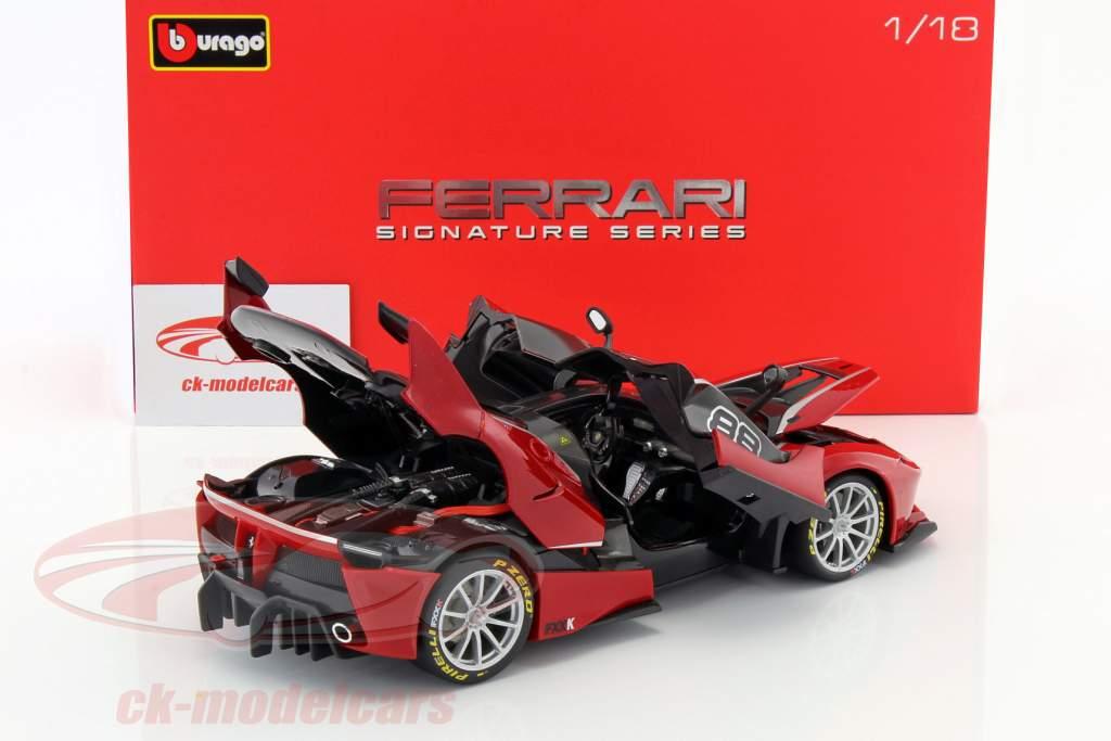 Ferrari FXX-K #88 rojo / negro 1:18 Bburago Signature