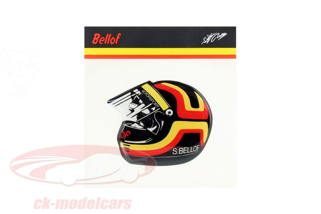 Stefan Bellof adesivo capacete 80 x 65 mm