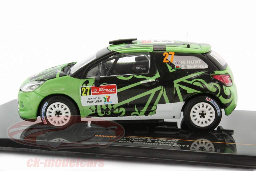 Citroen DS3 R3 #27 Rally Portogallo WRC 2011 Hunt / Mcphee 1:43 Ixo
