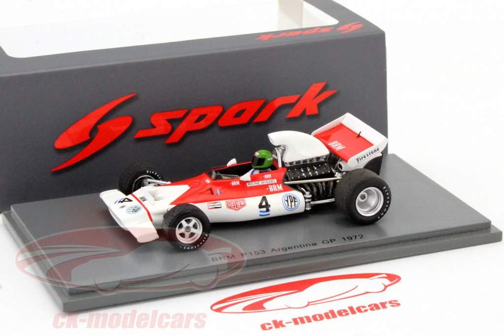 Reine Wisell BRM P153 #4 Argentina GP formel 1 1972 1:43 Spark