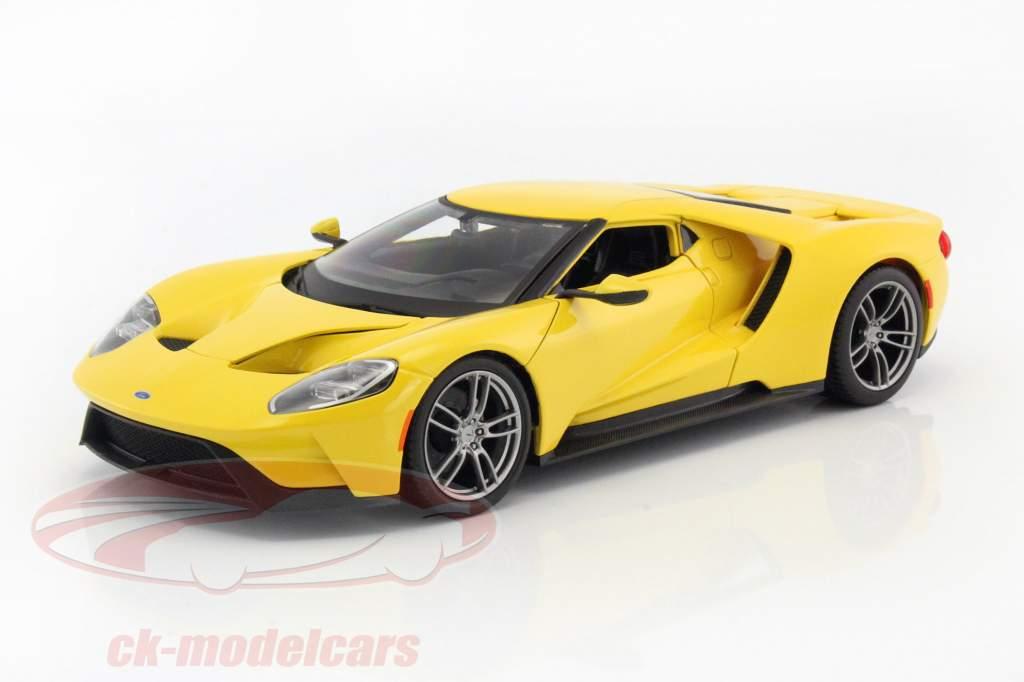 Ford GT ano de construção 2017 amarelo 1:18 Maisto