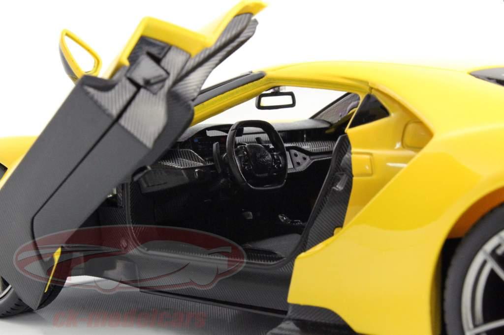 Ford GT année de construction 2017 jaune 1:18 Maisto