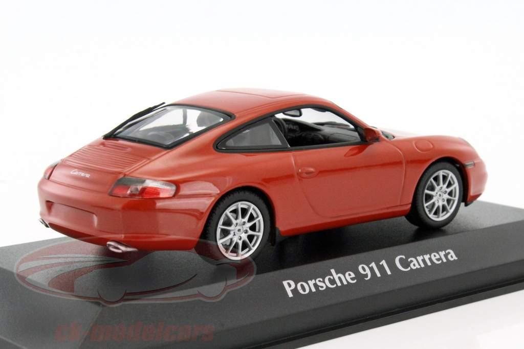 Porsche 911 Carrera coupe año de construcción 2001 naranja-rojo metálico 1:43 Minichamps