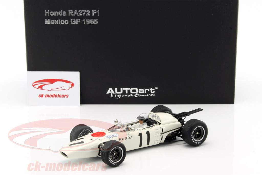 Richie Ginther Honda RA272 #11 winnaar Mexico GP formule 1 1965 1:18 AUTOart