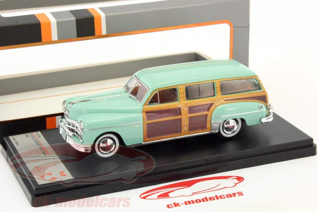 Dodge Coronet Woody wagon year 1949 lime / wood look 1:43 Premium X