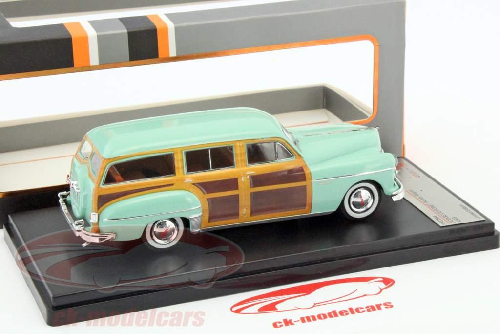 Dodge Coronet Woody vogn Opførselsår 1949 lime / træ-look 1:43 Premium X