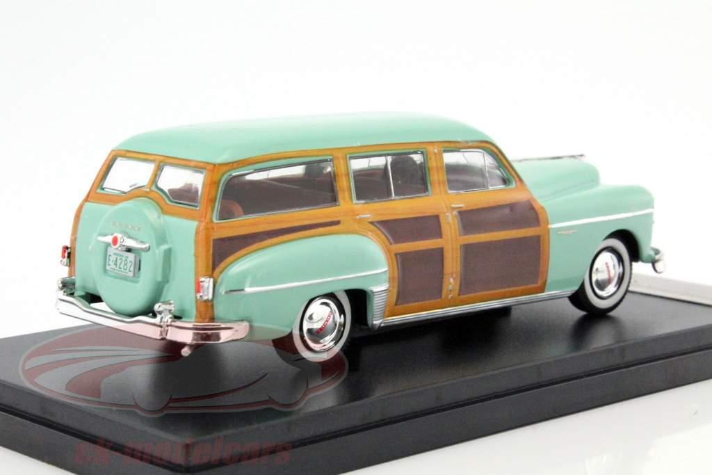 Dodge Coronet houtachtig wagon Bouwjaar 1949 kalk / houtlook 1:43 Premium X