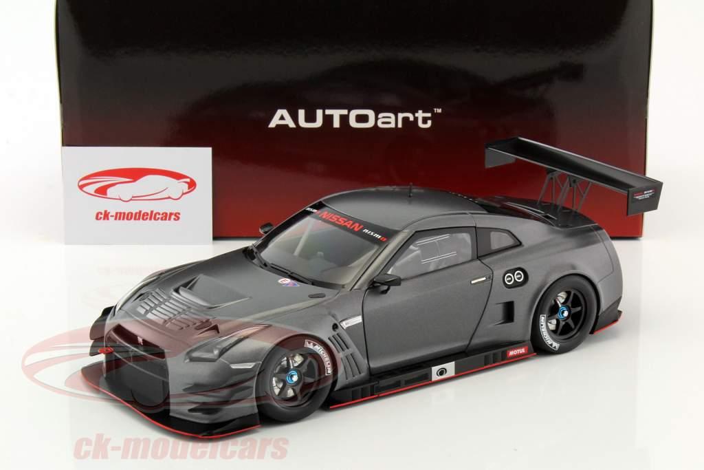 Nissan GT-R Nismo GT3 year 2015 mat dark gray 1:18 AUTOart