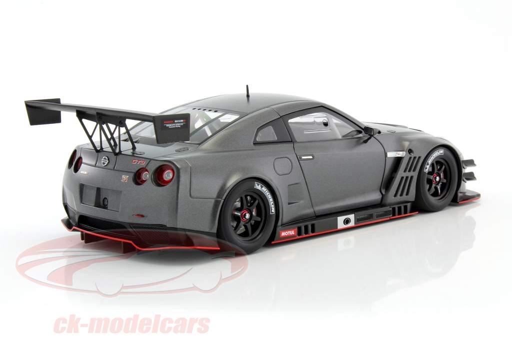 Nissan GT-R Nismo GT3 anno 2015 stuoia buio grigio 1:18 AUTOart
