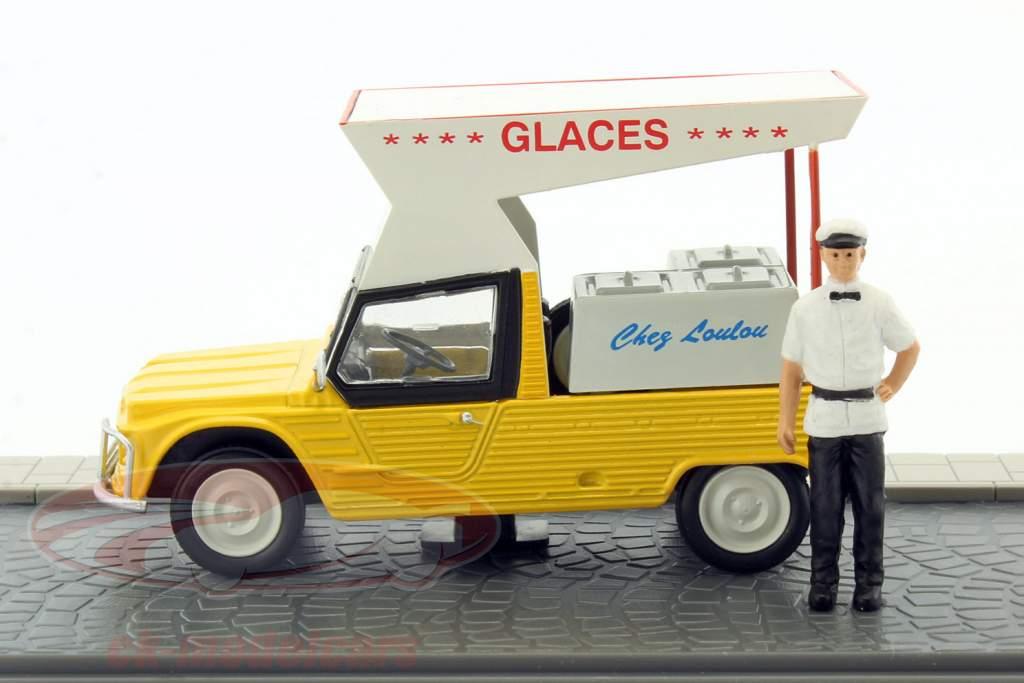 Citroen Mehari Eisverkäufer gelb 1:43 Atlas