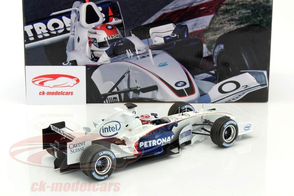 R. Kubica BMW Sauber C24B #38 fórmula 1 Test Barcelona 2006 1:18 Minichamps