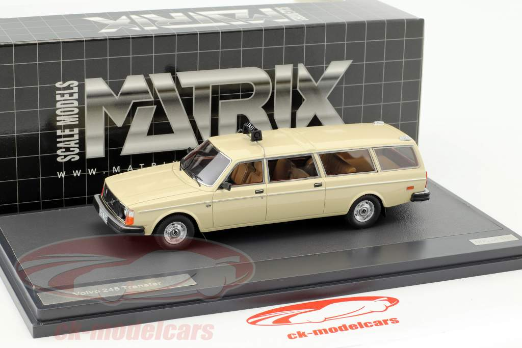 Volvo 245 Transfer taxi année de construction 1978 crème blanc 1:43 Matrix