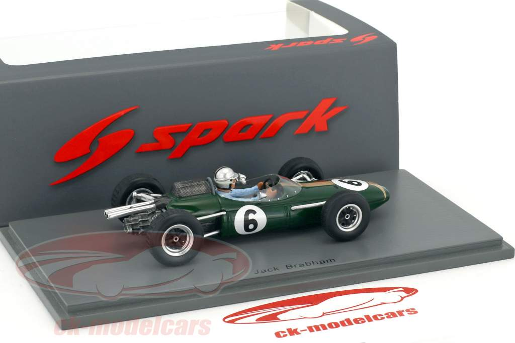 Jack Brabham Brabham BT7 #6 4ª França GP fórmula 1 1963 1:43 Spark