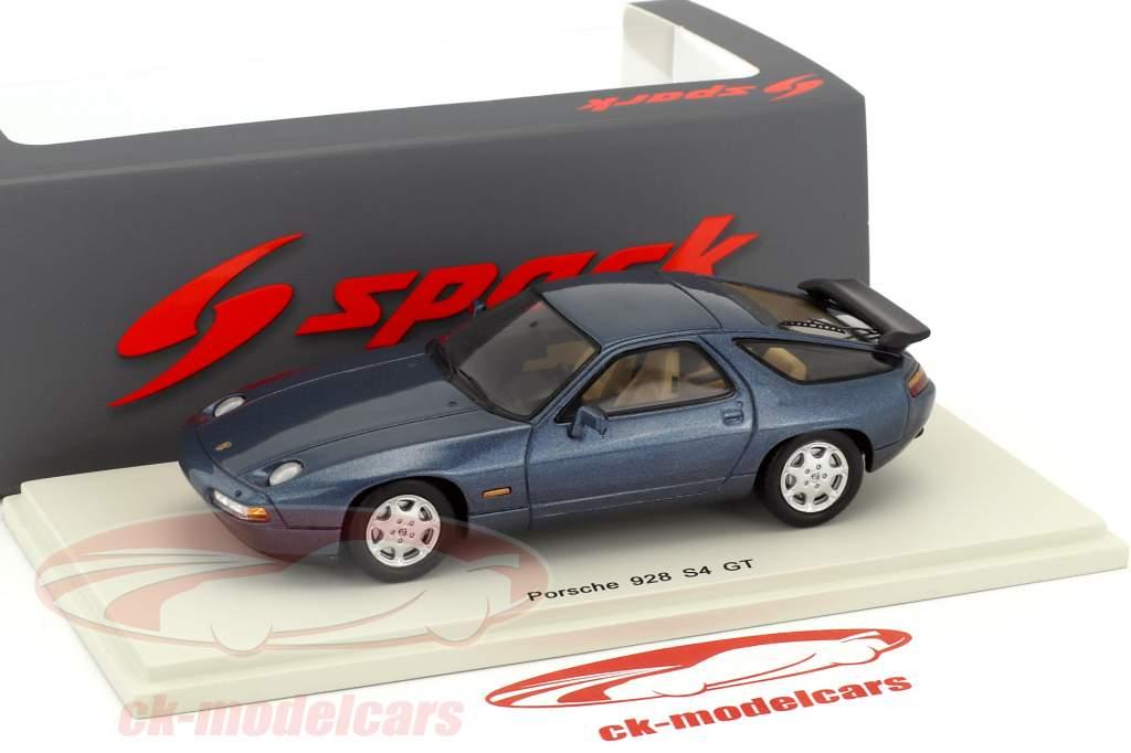 Porsche 928 S4 GT anno di costruzione 1990 blu scuro 1:43 Spark