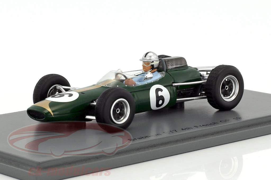 Jack Brabham Brabham BT7 #6 4e Frankrijk GP formule 1 1963 1:43 Spark