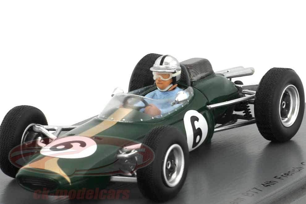 Jack Brabham Brabham BT7 #6 4 ° Francia GP formula 1 1963 1:43 Spark