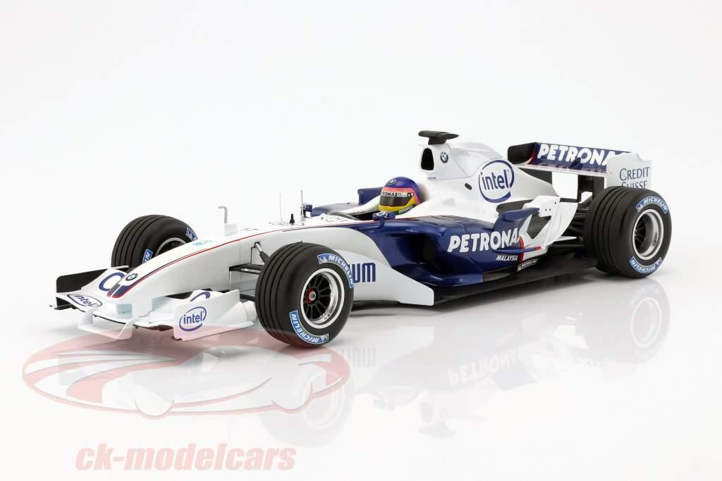 Jacques Villeneuve Sauber BMW C24B #17 febbraio prova Valencia formula 1 2006 1:18 Minichamps