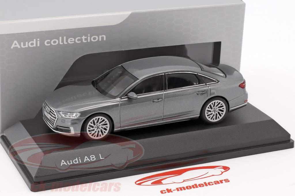Audi A8 L monsun grijs 1:43 iScale