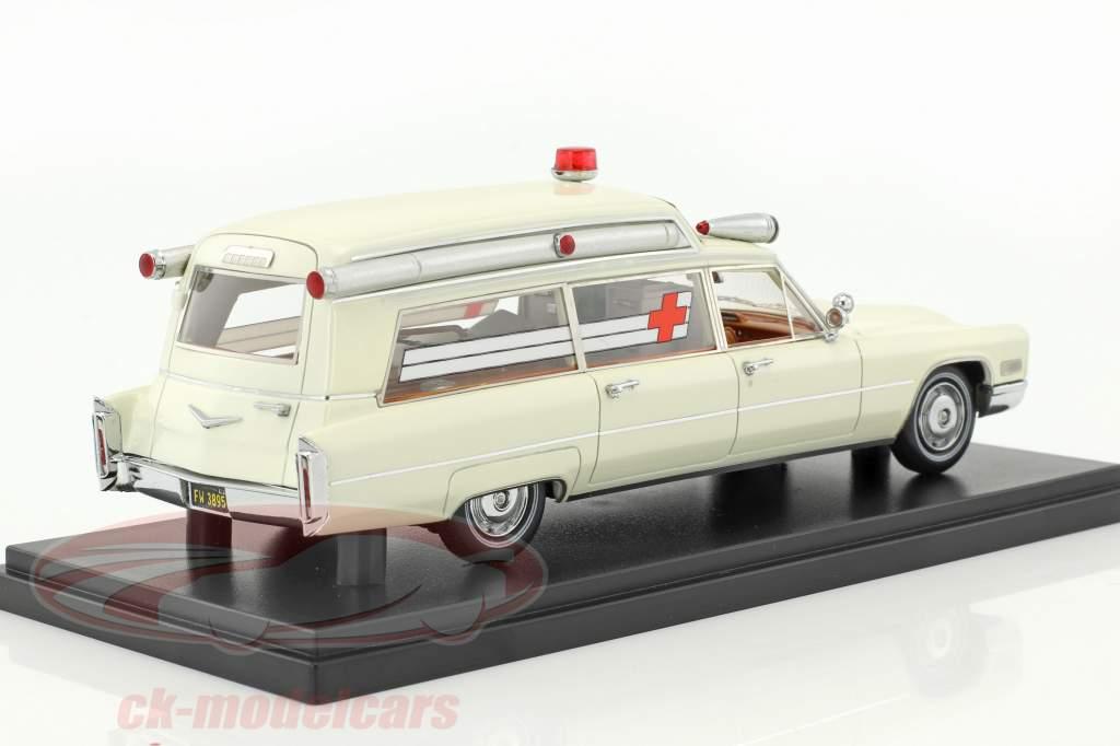 Cadillac S&S haut Top Ambulance crème blanc 1:43 Neo